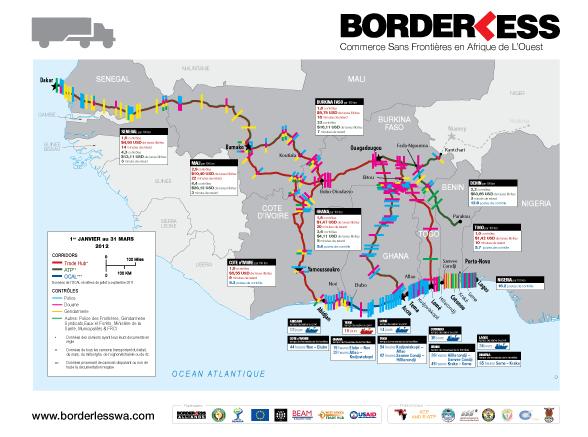 19ème USAID-UEMOA carte